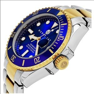 Henry Jay aqua master specialty gold plated watch
